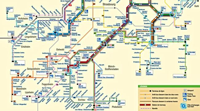 Le réseau CTS bus et tram est réaménagé à partir du 23 avril (plan schématique CTS)