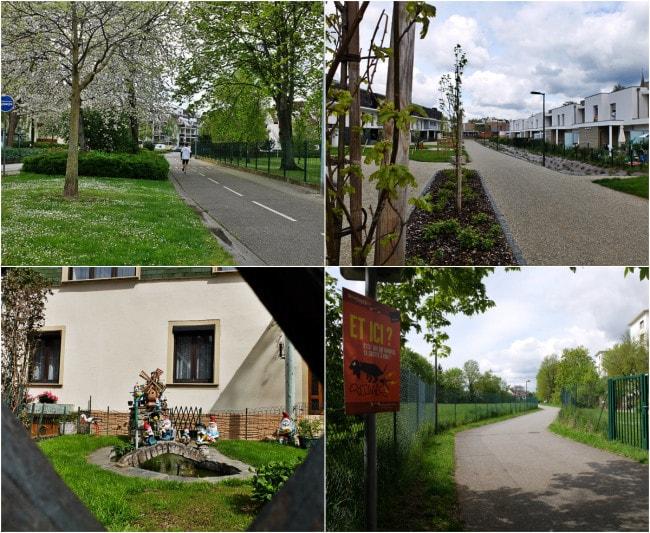 Rue de la Lamproie, de Furstenberg et de la Tanche : retour au tram Robertsau-Boecklin (Photos MM / Rue89 Strasbourg)