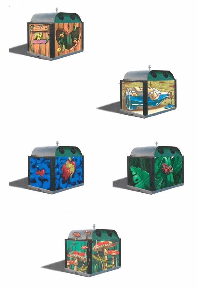 les cinq laur ats pour d corer les conteneurs verre sont connus. Black Bedroom Furniture Sets. Home Design Ideas