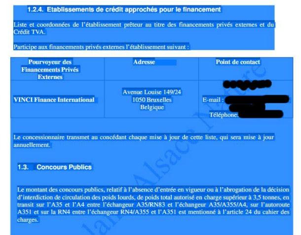 Un passage d'annexe passé par un logiciel. L'anonymat du point de contact a été préservée (édition Rue89 Strasbourg)