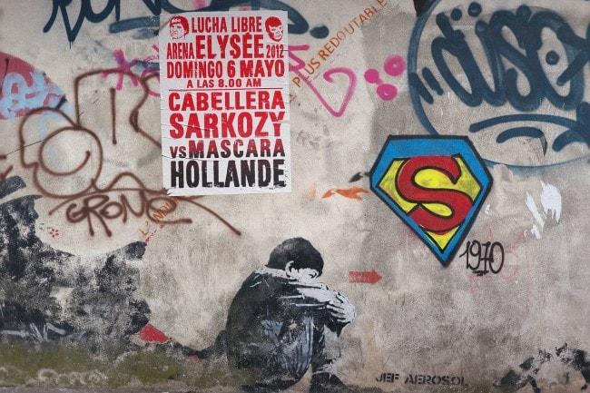 Lucha Libre Hollande Sarkozy (Photo Claude Degoutte / FlickR / cc)