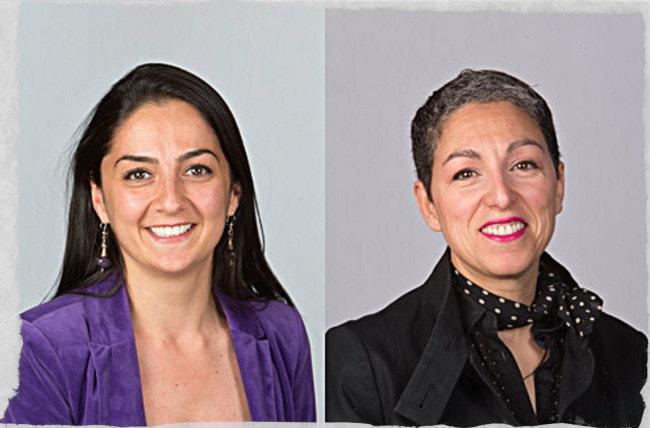 Mine Günbay (à g.) et Souad El Maysour étaient respectivement adjointes au maire en charge de la démocratie locale et des médiathèques. (Photos Eurométropole)