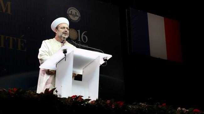 Le président des Affaires religieuses turques Mehmet Görmez est venu appeler les musulmans à l'unité. (Photo : Aline Fontaine / Rue89 Strasbourg/ cc)