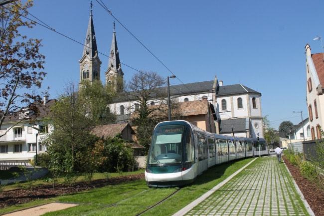C'est une première à Strasbourg, sur une portion de 650 mètres, les tramways circuleront sur une voie unique.