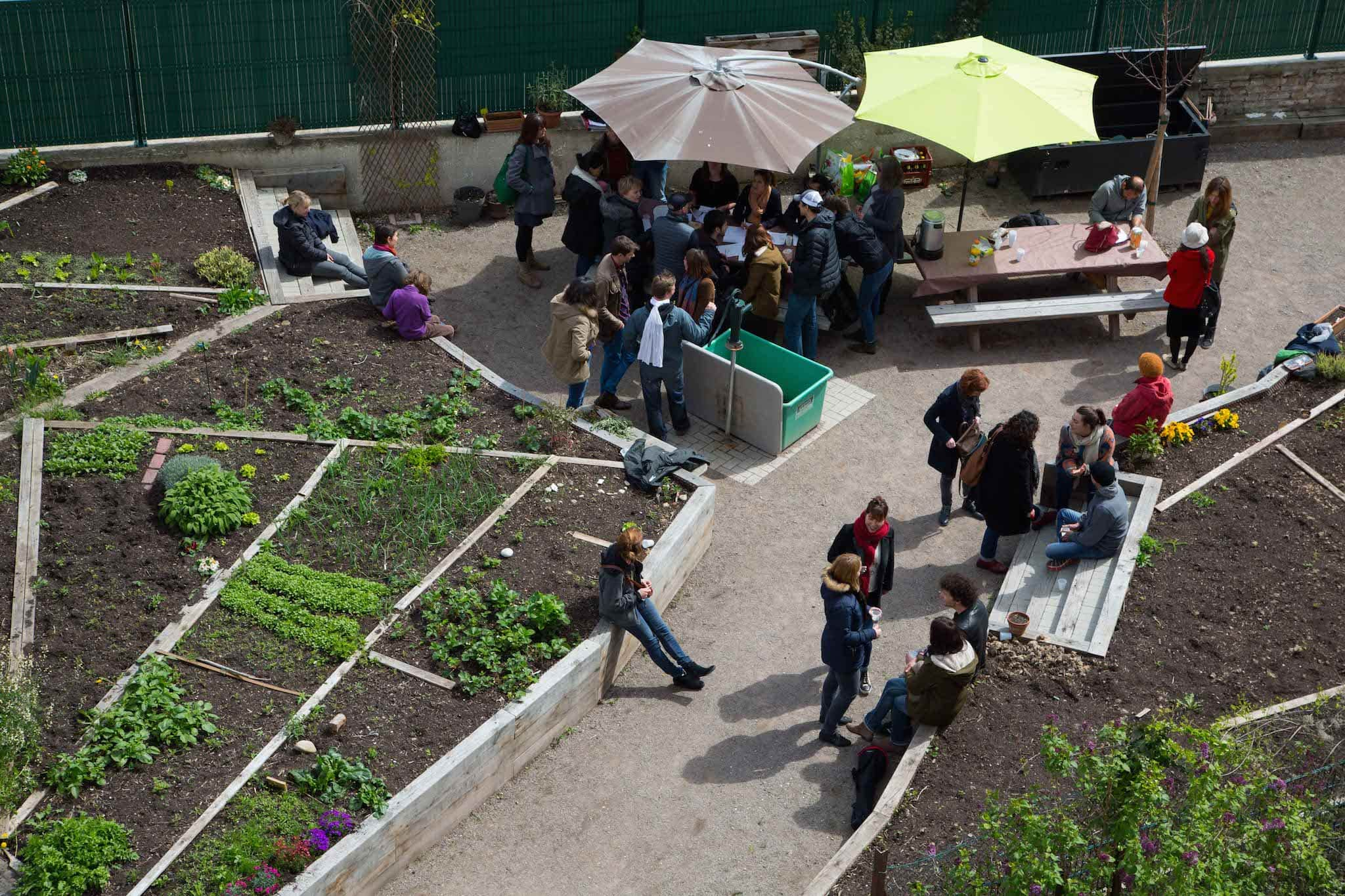 Le jardin partagé de la Grossau. Photo : FL / Rue89 Strasbourg / cc