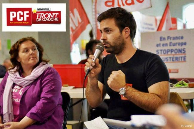 Julien Ratcliffe, candidat du Parti communiste à l'élection législative partielle à Strasbourg (doc. remis)