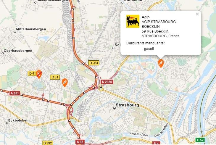 Blocage des raffineries : pas de panique à avoir en Alsace