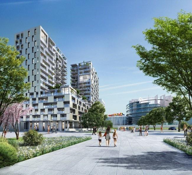 """Les logements et services doivent assurer une """"mixité de fonctions"""" au futur quartier d'affaires de Strasbourg (doc remis / Altarea Cogedim)"""