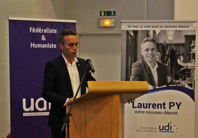 Laurent Py, 38 ans, un nouvelle figure dans la politique strasbourgeoise (photo JFG / Rue89 Strasbourg)