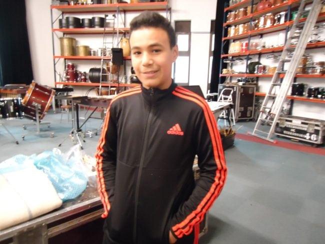 Walid, lui aussi participant au concert Percustra avec la classe de 5ème B du Collège Erasme (Photo MB / Rue89 Strasbourg)