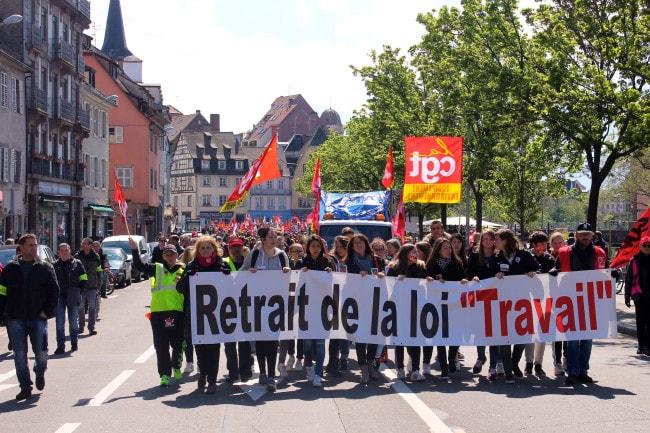 Les manifestants le 28 avril dernier (Photo PD / Rue89 Strasbourg)