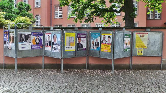 14 candidats pour un siège de député pour un an (photo Judith Durepaire / Rue89 Strasbourg)