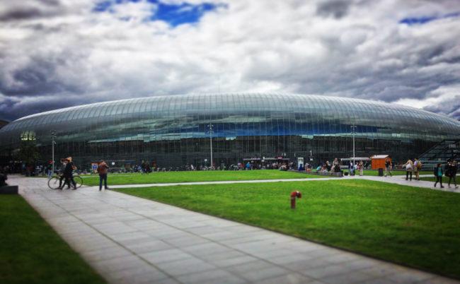 La place de la gare pourrait très bien supporter un tramway (photo JFG / Rue89 Strasbourg)