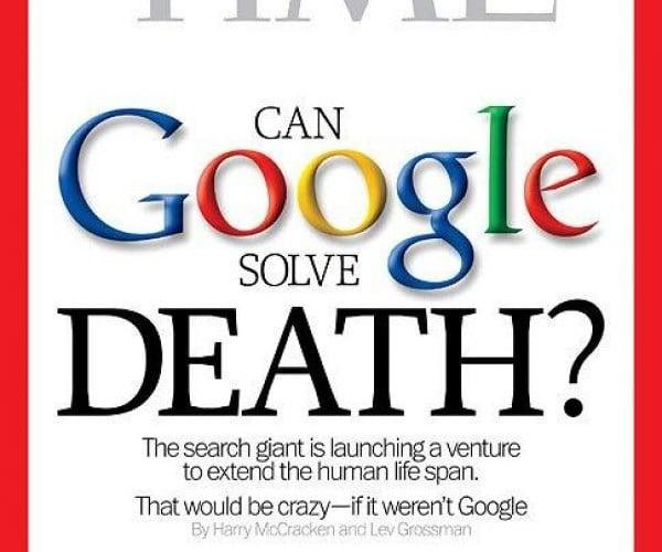 Couverture du Times, lors du lancement du programme Calico par Google en septembre 2013. (Photo: Times)