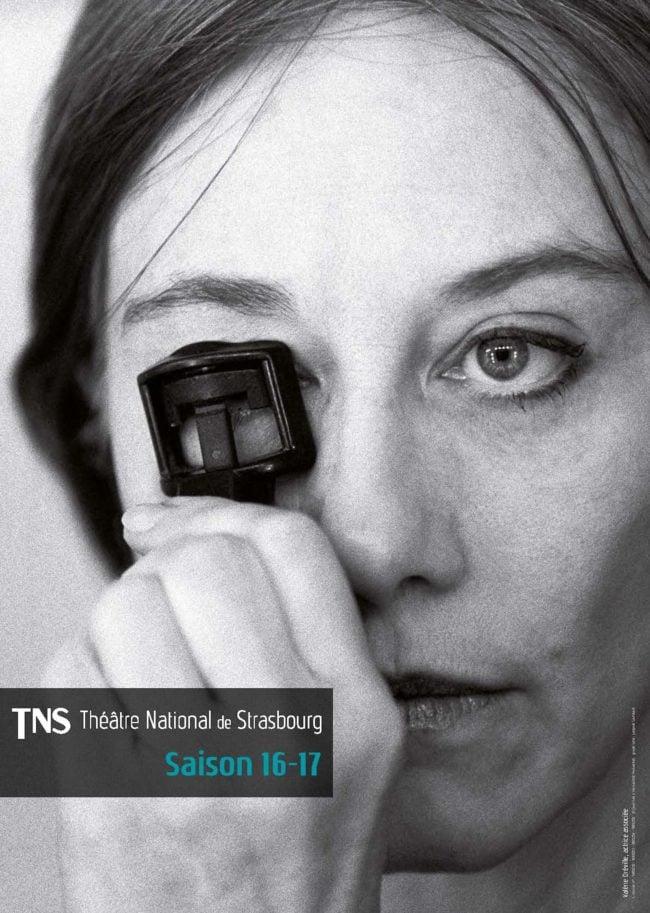 Le visuel saison 16-17 : Valérie Dréville, artiste associée (Photo Jean-Louis Fernandez)