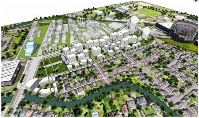 Ce à quoi devrait ressembler à termes le quartier Wacken-Europe (Doc. EMS)