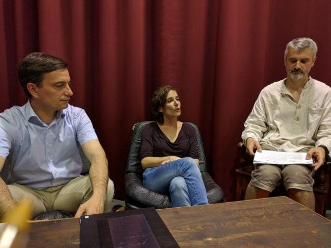 Chiara Villa (au centre), présidente de La Friche, va mener la transformation de l'association. (Photo PF / Rue89 Strasbourg / cc)