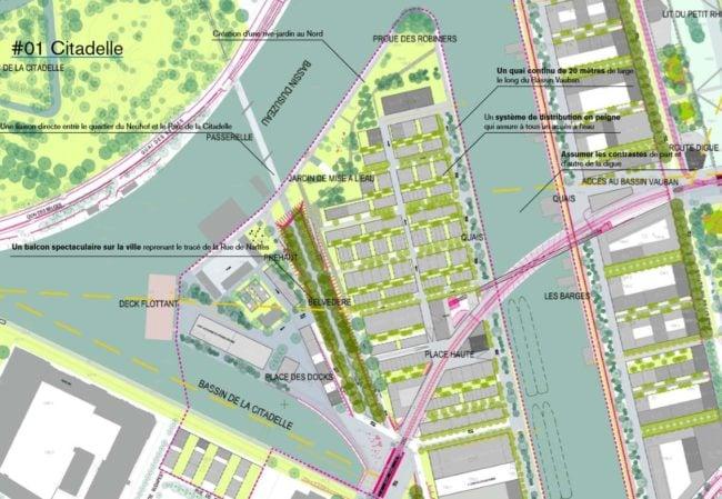 L'urbanisation se fera à distance des quais, pour que les habitants puissent s'approprier l'accès à l'eau (agence TER / doc remis)