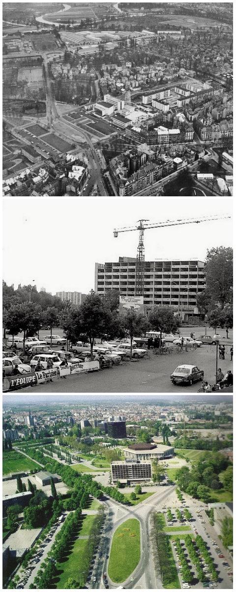 Place de Bordeaux vers 1965 et 1973 (Archives France 3 Alsace)