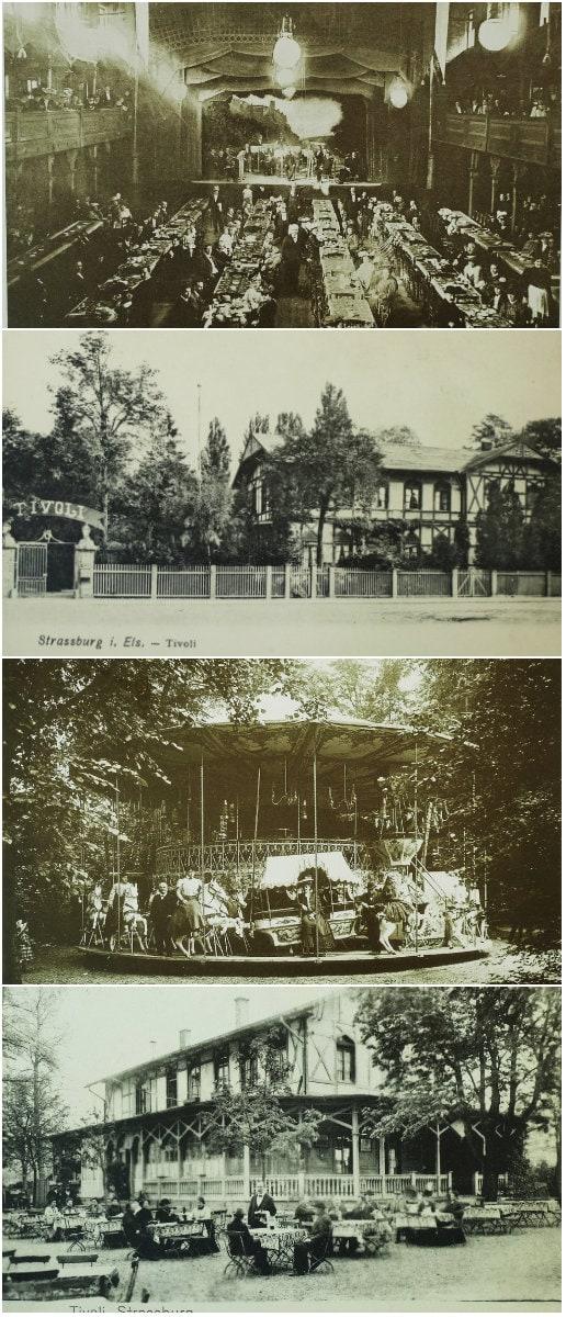Le restaurant du Tivoli, vers 1900 (ArchiWiki)