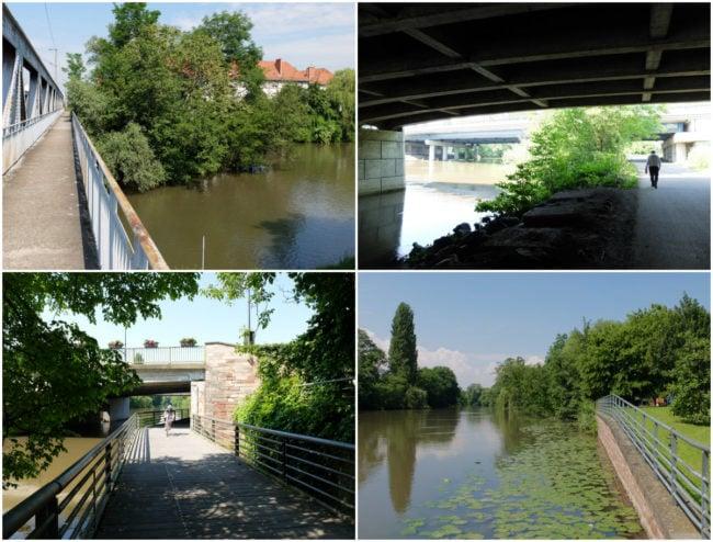 Le long de l'Ill, du Herrenwasser au passage de l'Illhof, passez sous de nombreux ponts (Photos MM / Rue89 Strasbourg)