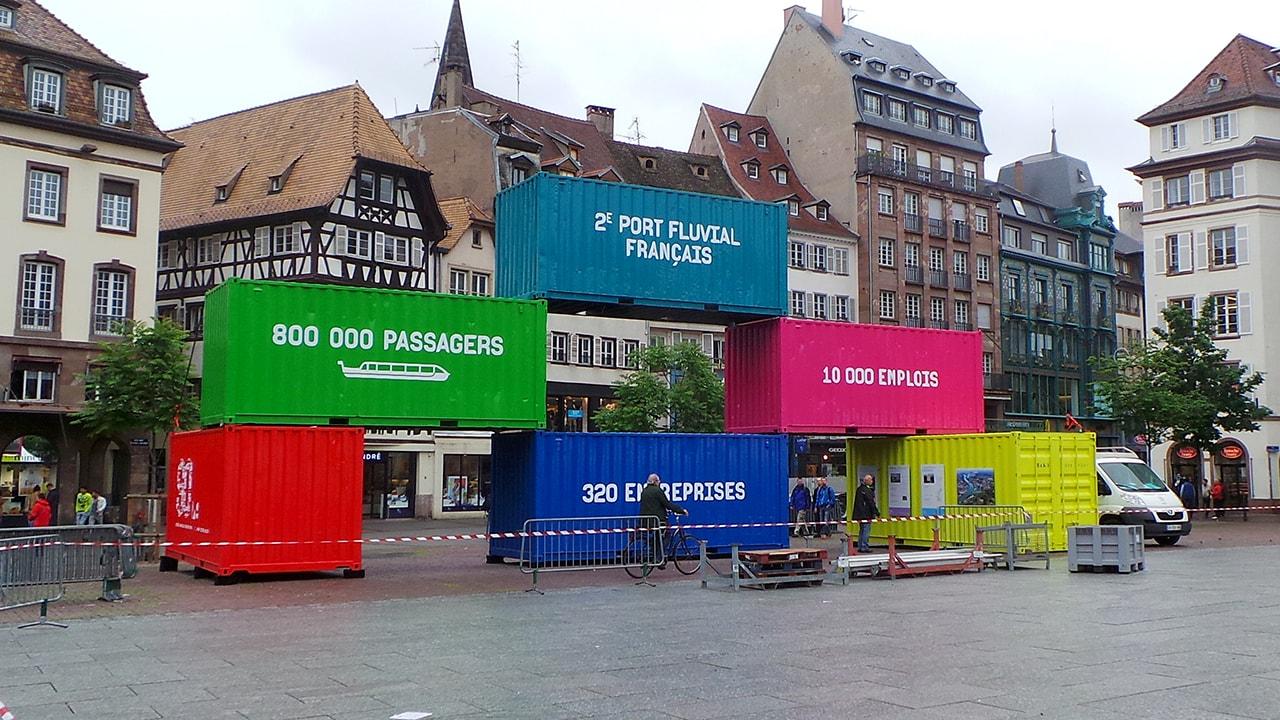 Pourquoi il y a des conteneurs place Kléber à Strasbourg