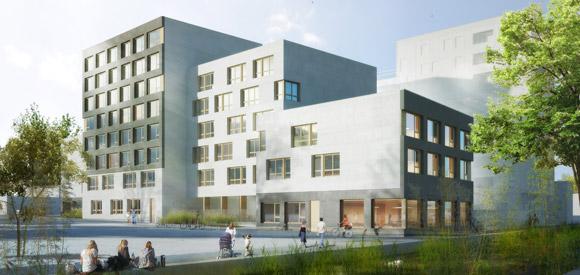 Projection de la future résidence étudiante Altexia du quartier Danube. (Crédits: Strasbourg.eu)