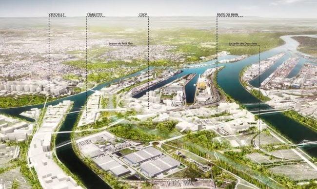 Une vue projetée de l'ensemble de la ZAC Deux-Rives (agence TER / doc remis)