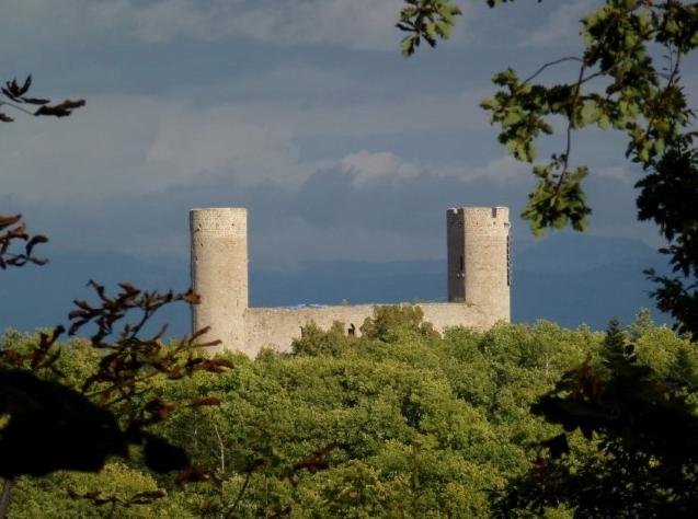 Château du Haut-Andlau, visible de loin (DR)