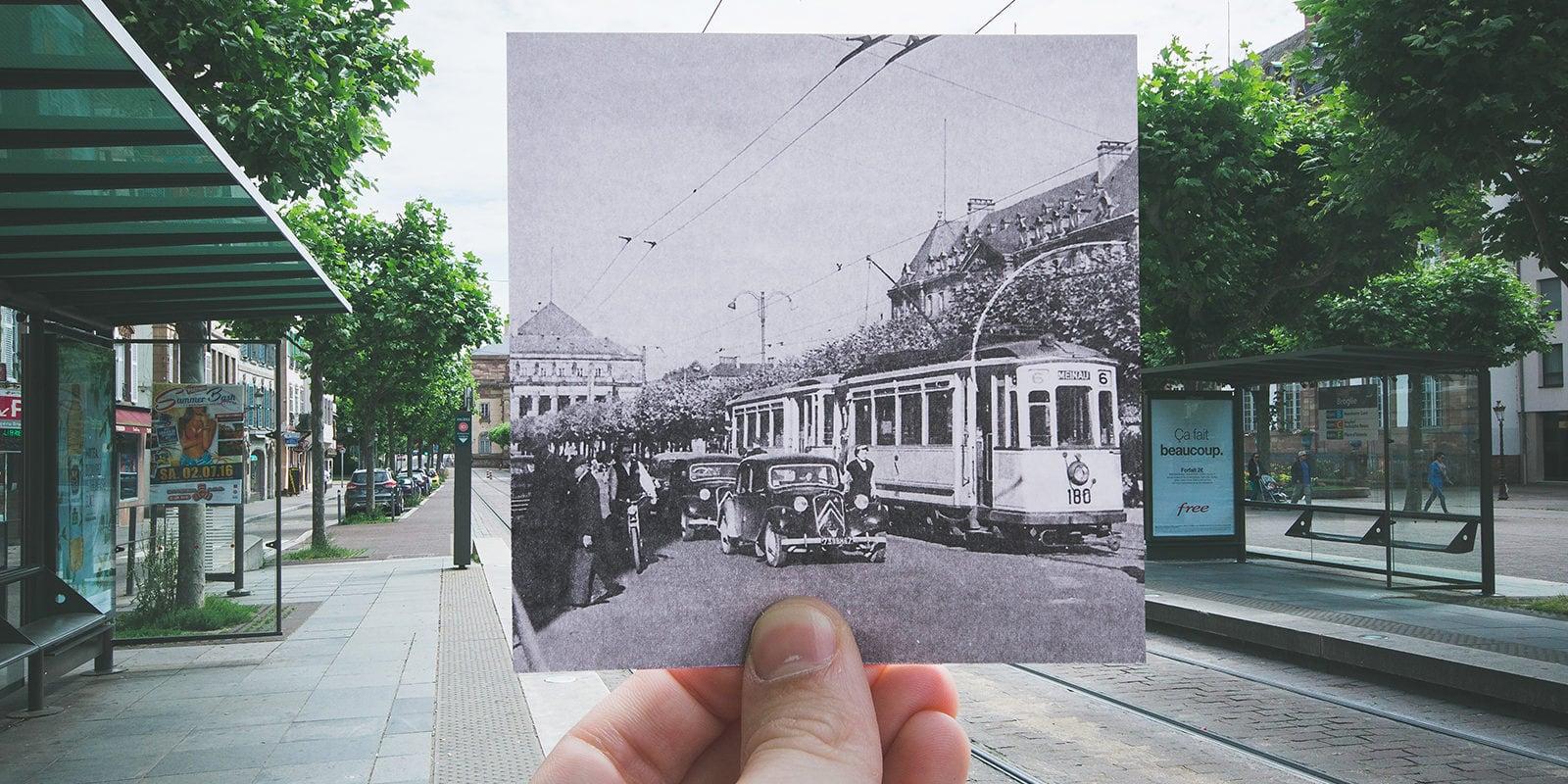 En photos, il met en scène le Strasbourg d'hier et d'aujourd'hui