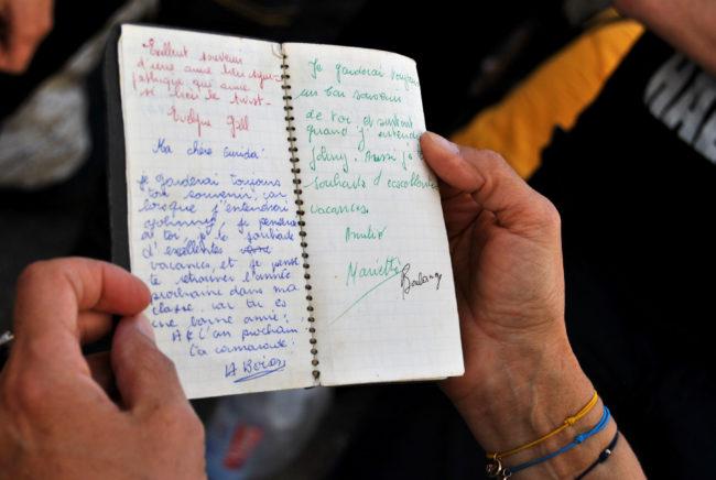 Le fameux carnet. (Photo: BB/ Rue89 Strasbourg)