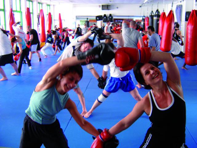 Entrainement cardio-boxe chez Panza Gym (DR)
