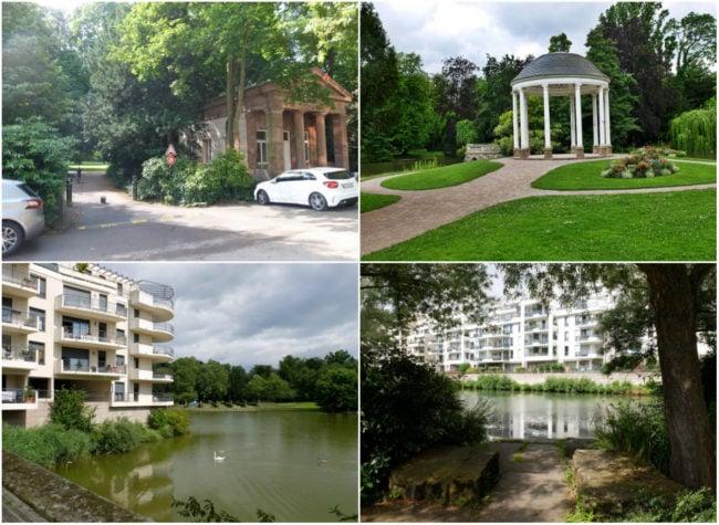 (En haut) le parc de l'Orangerie - (En bas) le quartier du Bon Pasteur (Photos MM / Rue89 Strasbourg)