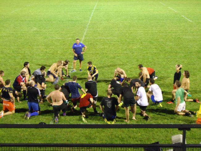 Les seniors masculins à l'entrainement du vendredi soir (Photo MB / Rue89 Strasbourg)
