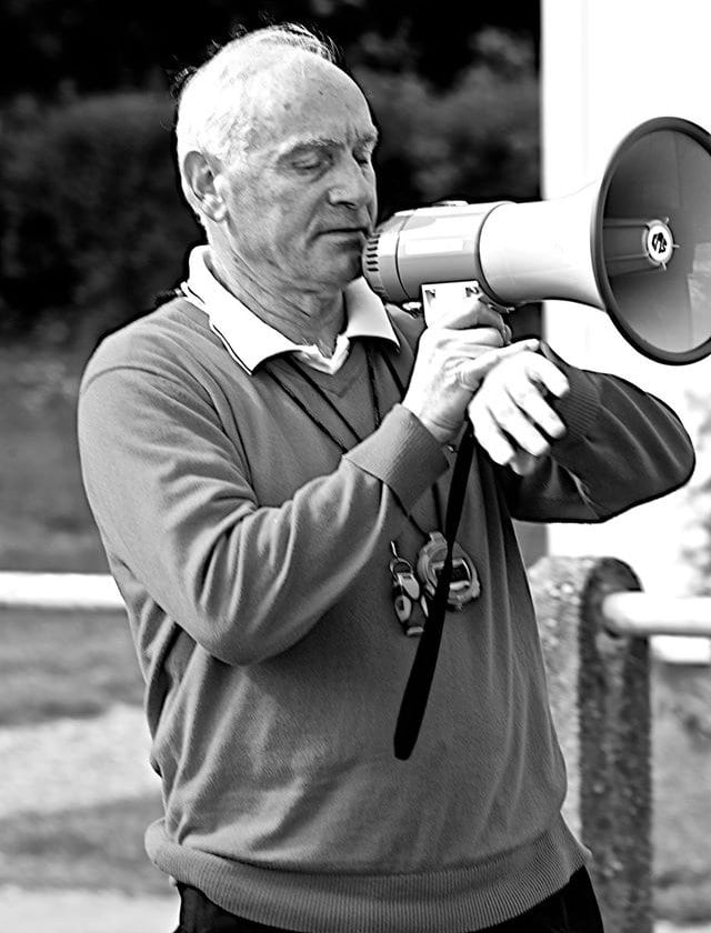 Fernand Kolbeck supervise l'entrainement (photo Ben Gayer)
