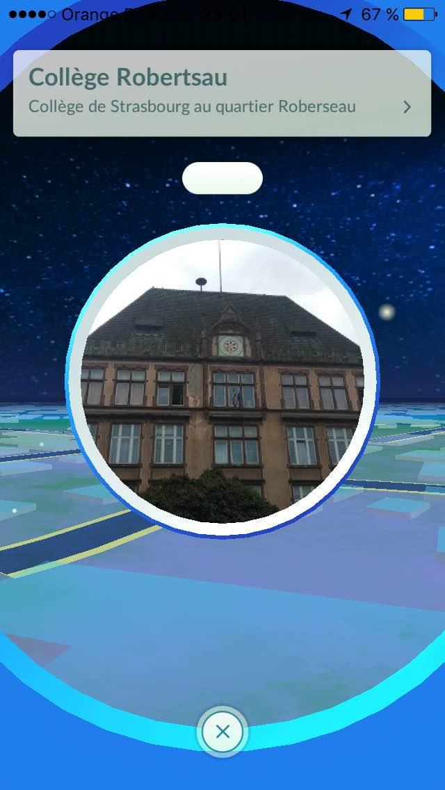 Capture d'écran du jeu Pokémon Go