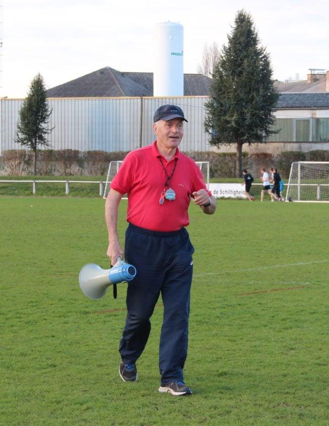 Fernand Kolbeck à l'entraînement aux stades du suc et de l'Aar tous les mercredis et samedis (photo Claude Hurth)