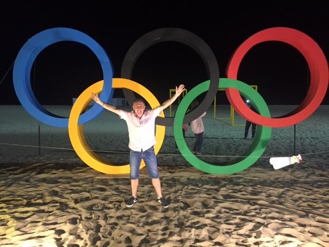Le bonheut une fois à Rio. Se prendre en photo avec les arceaux est un grand classique (doc. remis)