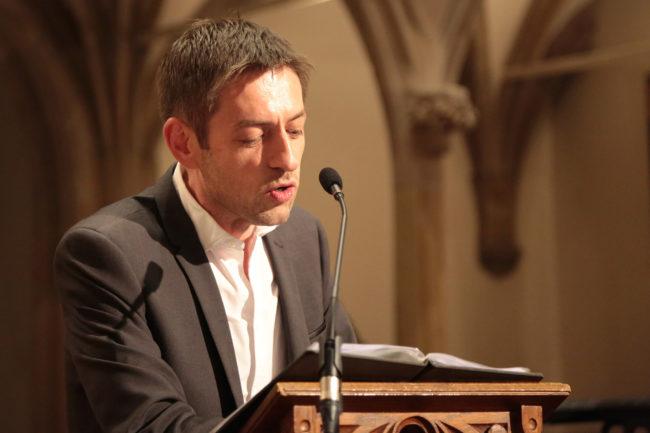 Christophe Kocher, pasteur de la paroisse Saint-Guillaume, membre fondateur de l'Antenne des Croyants Inclusifs (photo LL / Rue89 Strasbourg)
