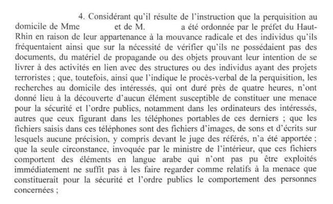 Extrait de l'ordonnance du conseil d'Etat du 5 septembre (doc remis)