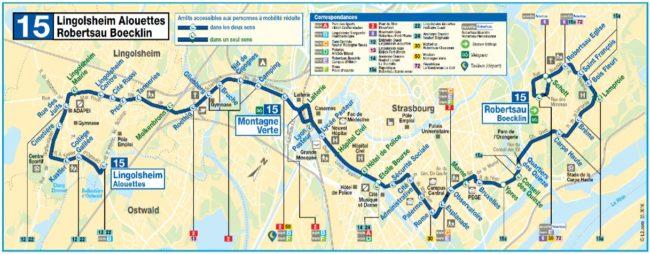 """La ligne 15 sera la première à être transformée en """"ligne structurante"""" (doc Eurométropole / CTS)"""