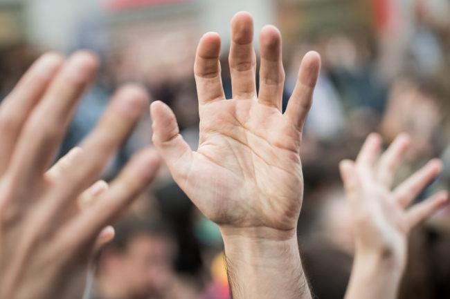 Demonstration à Madrid pour le 5e anniversaire du 15M (Photo Adolfo Lujan / FlickR / cc)