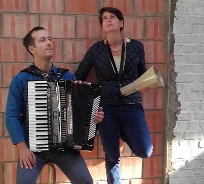 Gabriel Mattei et Claire Audhuy (Photo C.A. / DR)
