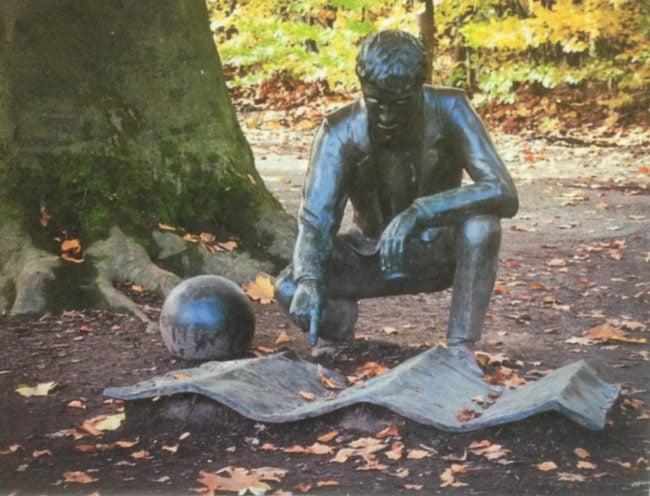 Le génie du lieu, statue de Giulio Paolini dans le parc de Pourtalès (photo MC / Rue89 Strasbourg)