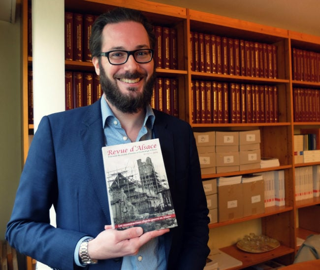 Nicolas Lefort, professeur d'histoire-géo en collège, est rédacteur en chef de la Revue depuis 2 ans (Photo MM / Rue89 Strasbourg)