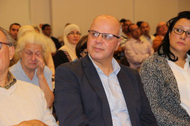Saïd Aalla lors de la conférence de l'EECAM du 30 septembre 2016. (Photo : Claire Gandanger/ Rue89 Strasbourg / cc)