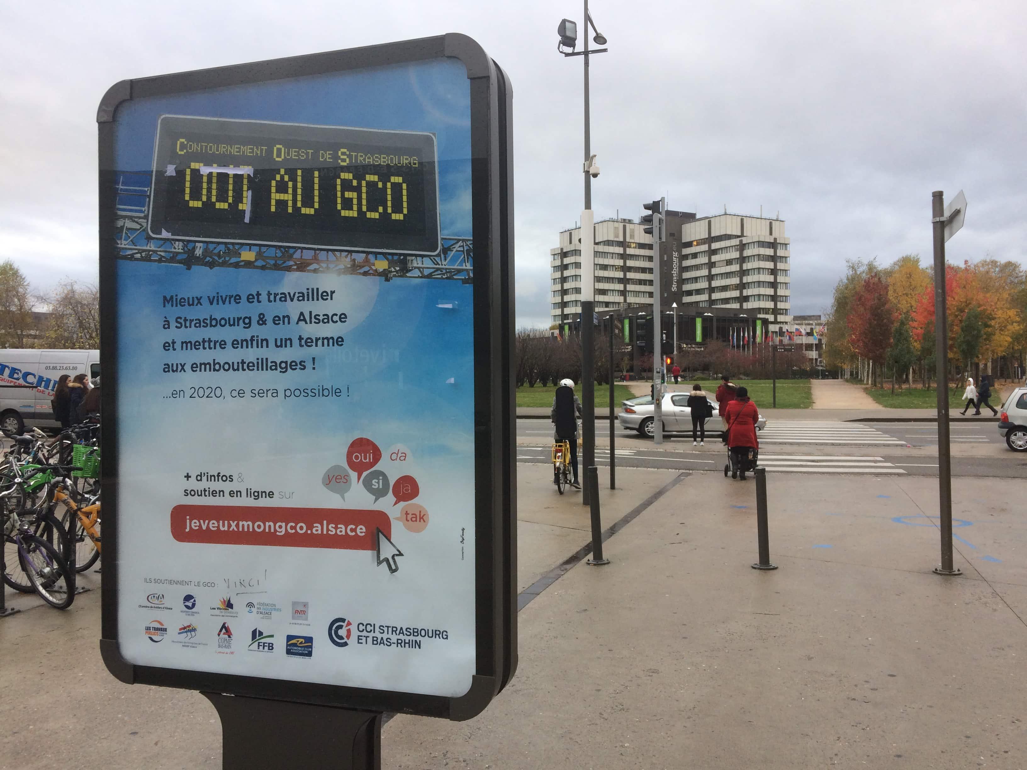 Une pub promet moins de bouchons avec le GCO France Bleu l annule