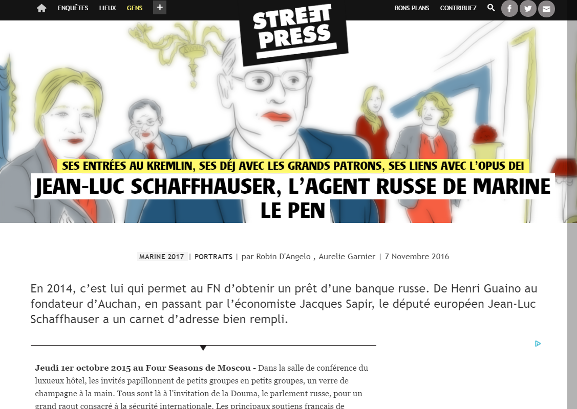 Plongée avec Jean-Luc Schaffhauser facilitateur du FN avec la Russie