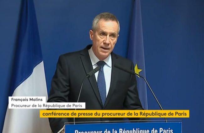 Procureur de Paris, François Molin a en charge le Parquet anti-terroriste (capture d'écran)