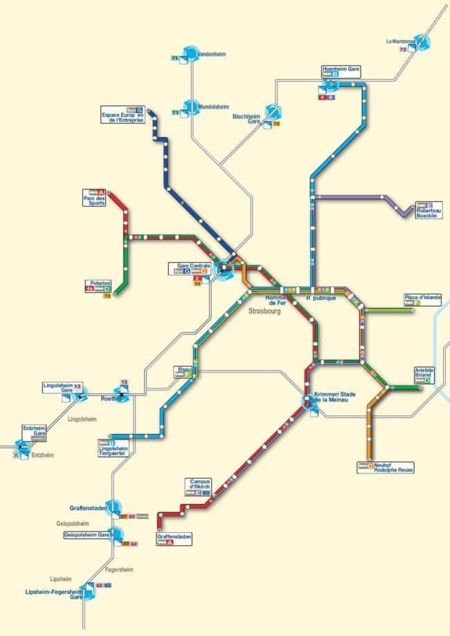 L'interconnexion des réseaux TER de la SNCF et tram de la CTS